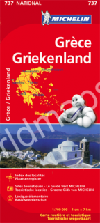 737 Grécko (Greece) 1:700t mapa MICHELIN