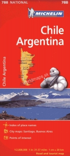 788 Čile, Argentína (Chile, Argentina) 1:2m national mapa MICHELIN