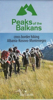 Peaks of the Balkans Albania,Kosovo,Montenegro 60t (Vrcholy Balkánu) Hiking map